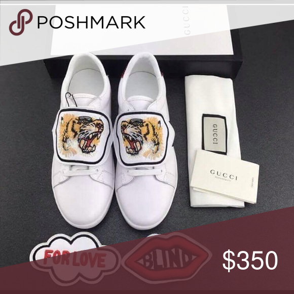 e414aa59dba600 Gucci Tiger Blind for love Patch Sneakers Brand New Deadstock Men s  a  Women s Sizes Available 🌈 100% Authentic Original Box and Tags included 📌  DO NOT ...
