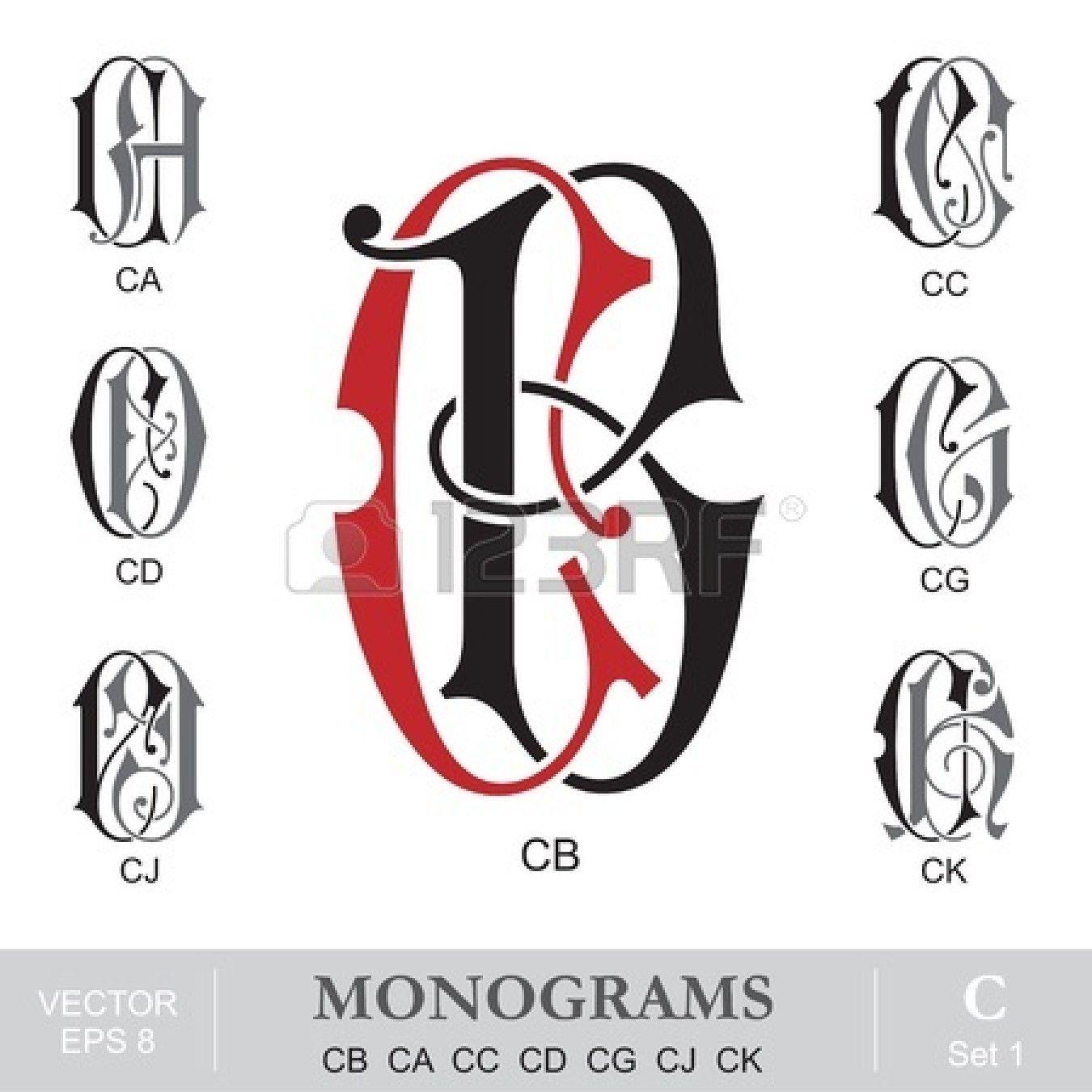 Vintage Monograms CB CA CC CD CG CJ CK | MONOGRAMS | Pinterest