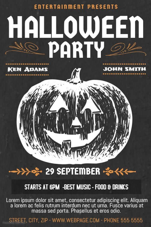 Vintage Retro Halloween Poster Template. Click on the