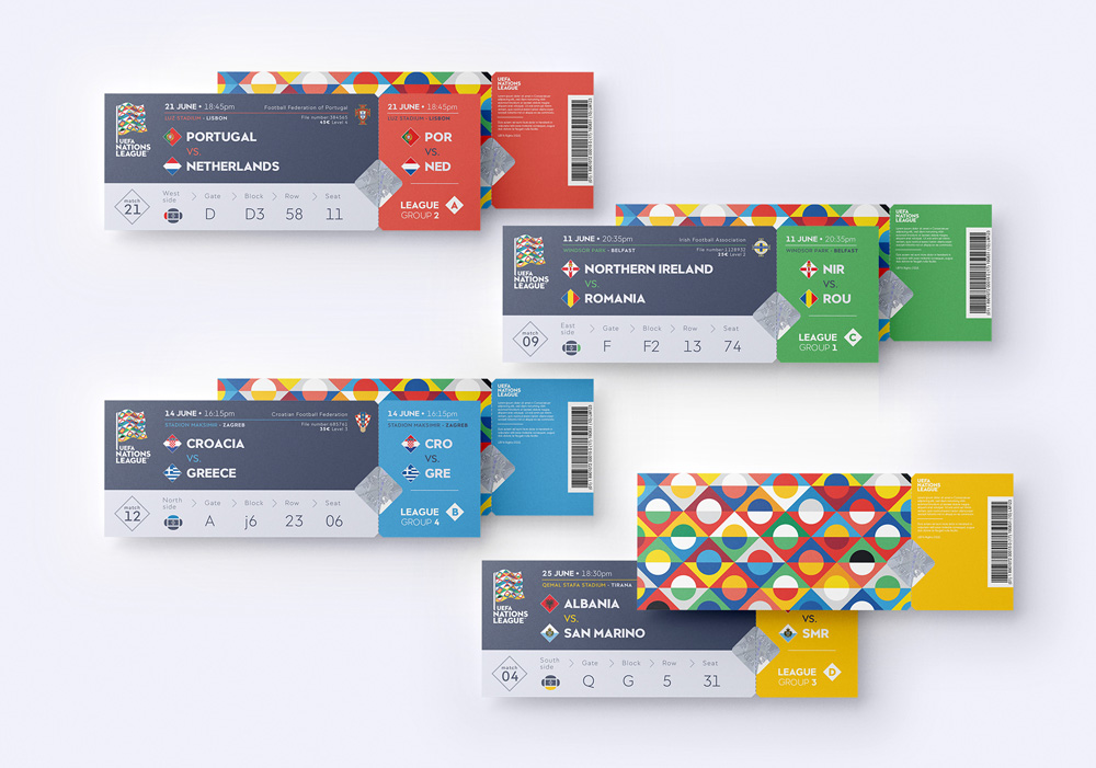brand new new logo and identity for uefa nations league by y r branding league identity logo branding pinterest