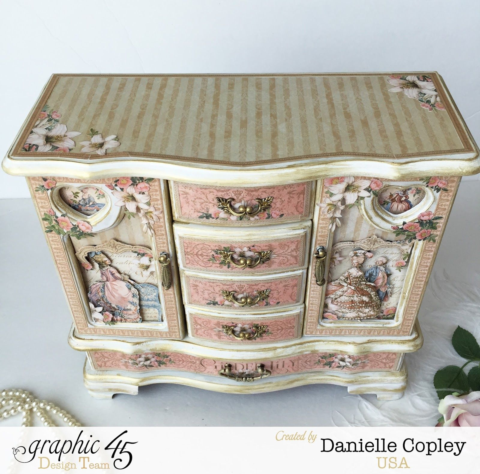 Graphic 45 Gilded Lily Jewelry Box Armoire by Scrapbook Maven thrift