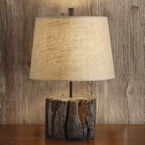 Logs Furniture And Decorative Accessories 16 Diy Home Decorating Ideas Wooden Lamps Design Wooden Lamp Log Furniture