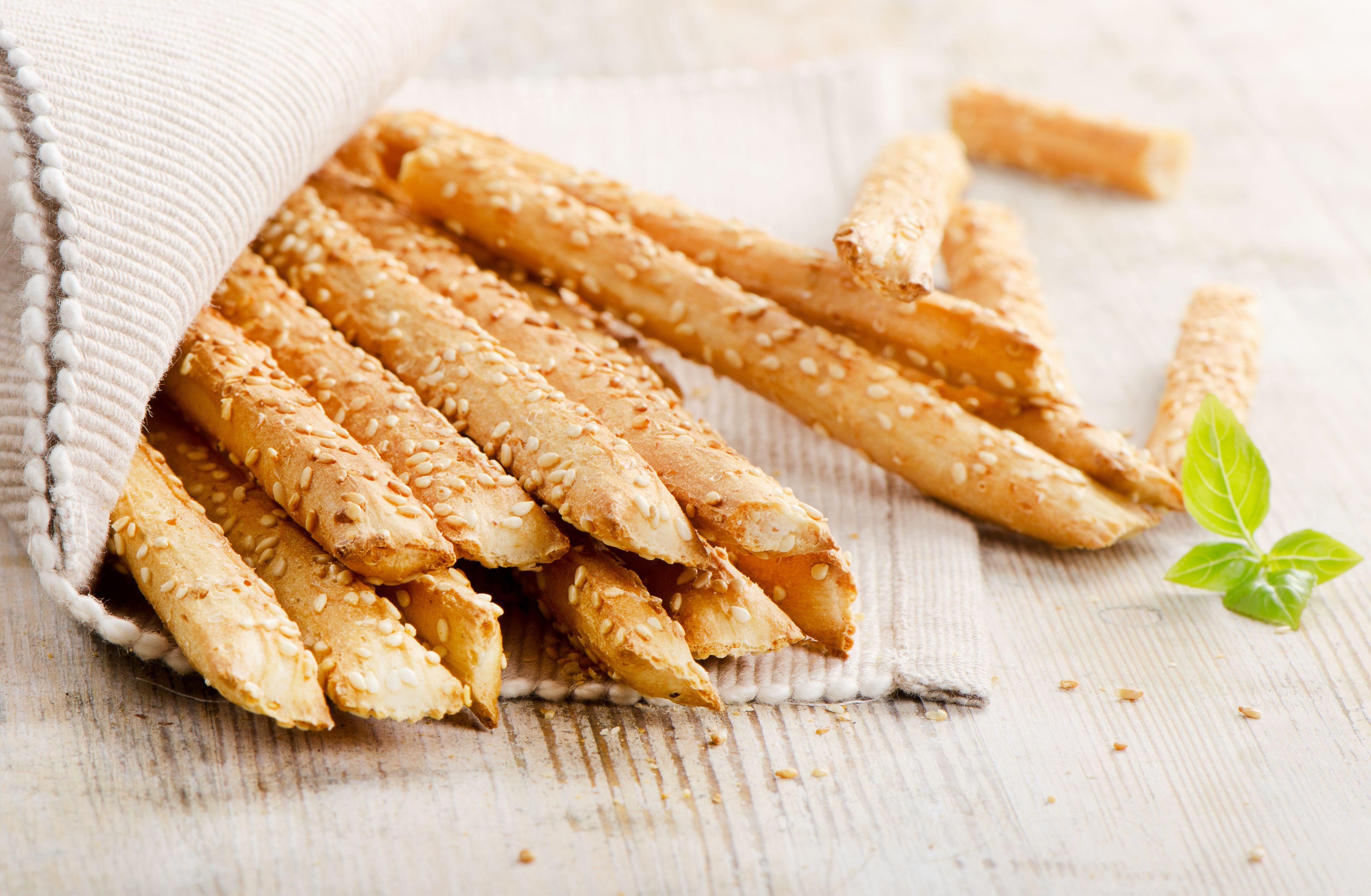 Recipe for Kritsinia - Greek Breadsticks with Sesame Seeds