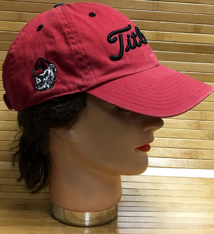 46d986d0dde Titleist UGA Georgia Bulldogs Adjustable Strapback Cap (RSTRB1A7) by ...