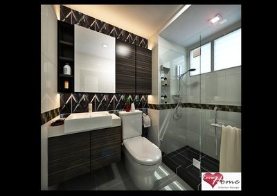 Bathroom design love home test with call tracking toilet