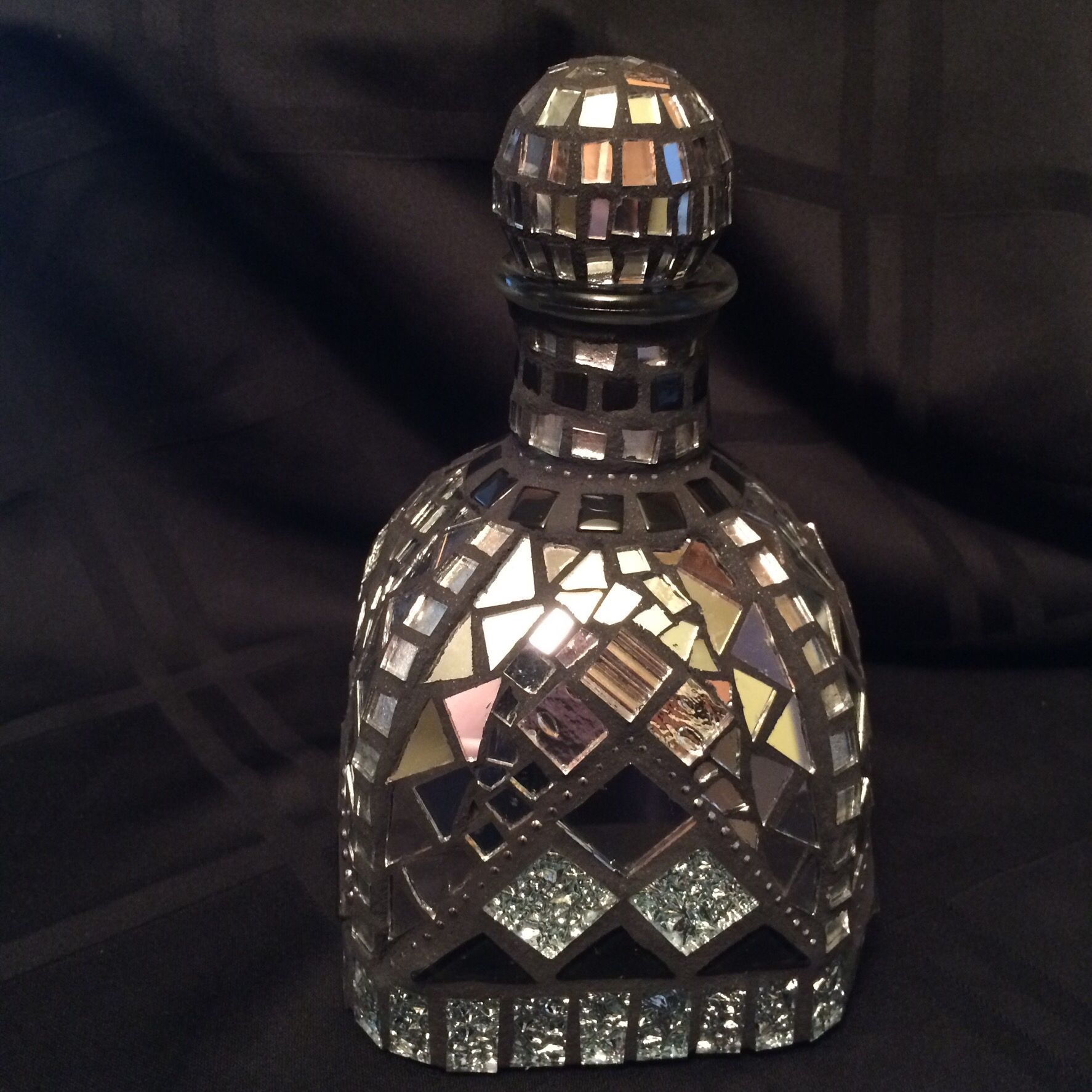 My mosaic Patron bottle