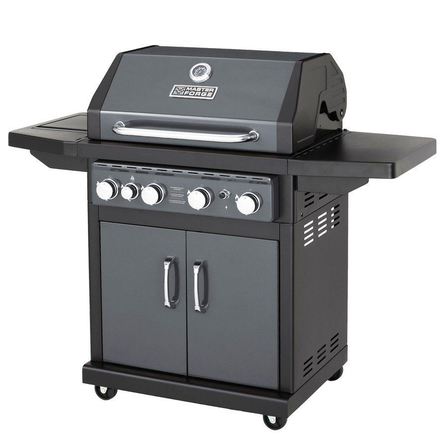 Master Forge 4-Burner (48,000 BTU) Natural Gas Grill with ...