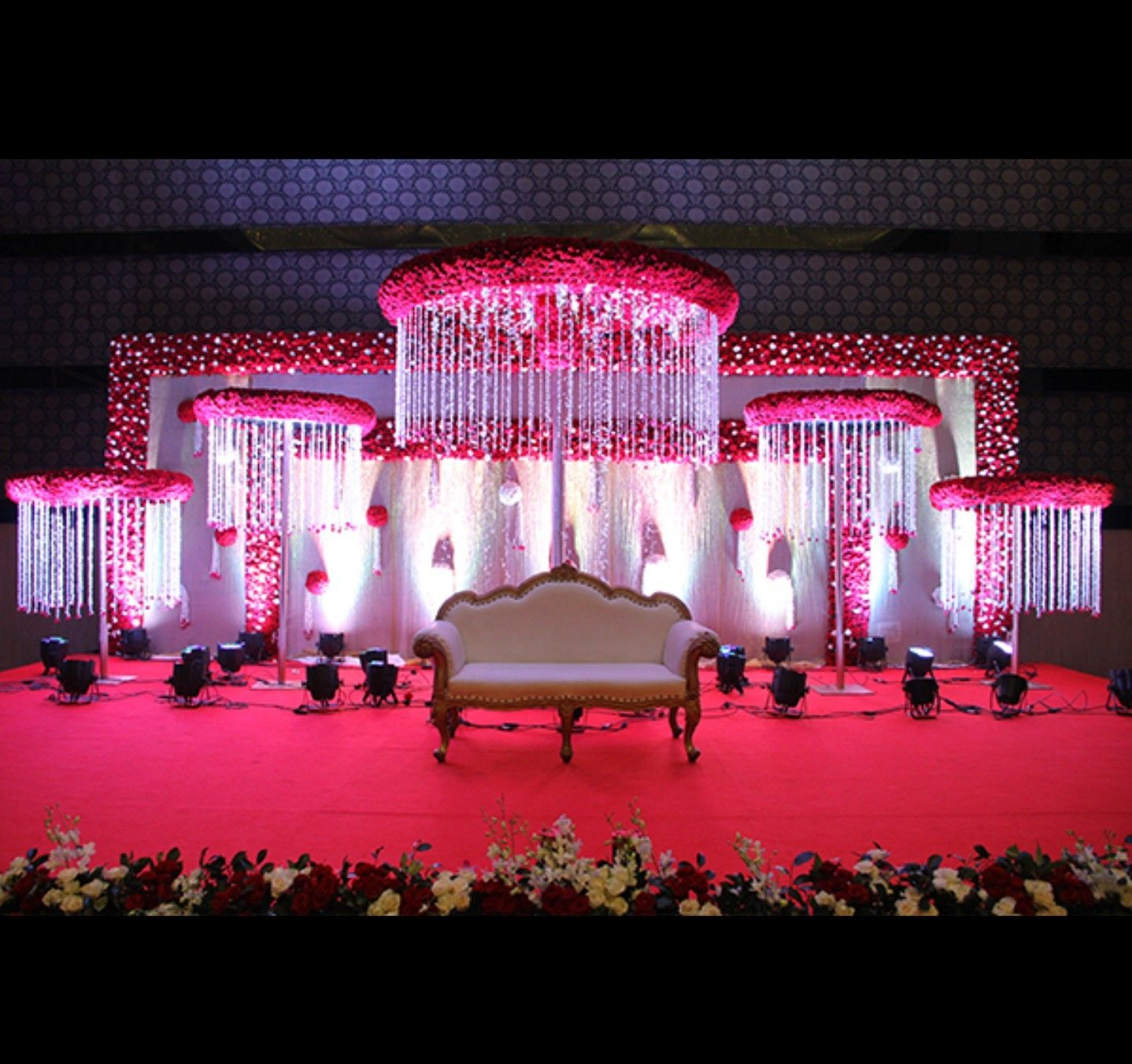 Wedding stage decor | south Indian wedding decor | Pinterest ... for Indian Wedding Light Decoration  10lpwja