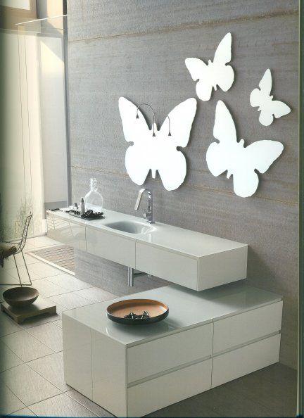 Specchio Bagno A Farfalla.Specchi Sagomati A Forma Di Farfalla In Varie Misure Con Possibilita