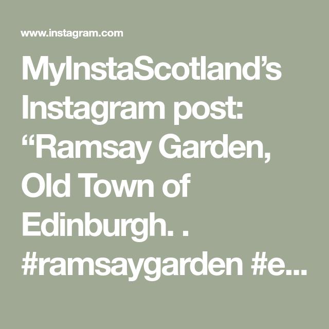 """MyInstaScotland's Instagram post: """"Ramsay Garden, Old Town of Edinburgh. .  #ramsaygarden #edinburgh #myedinburgh #loveedinburgh #thisisedinburgh #edinburghhighlights…"""""""