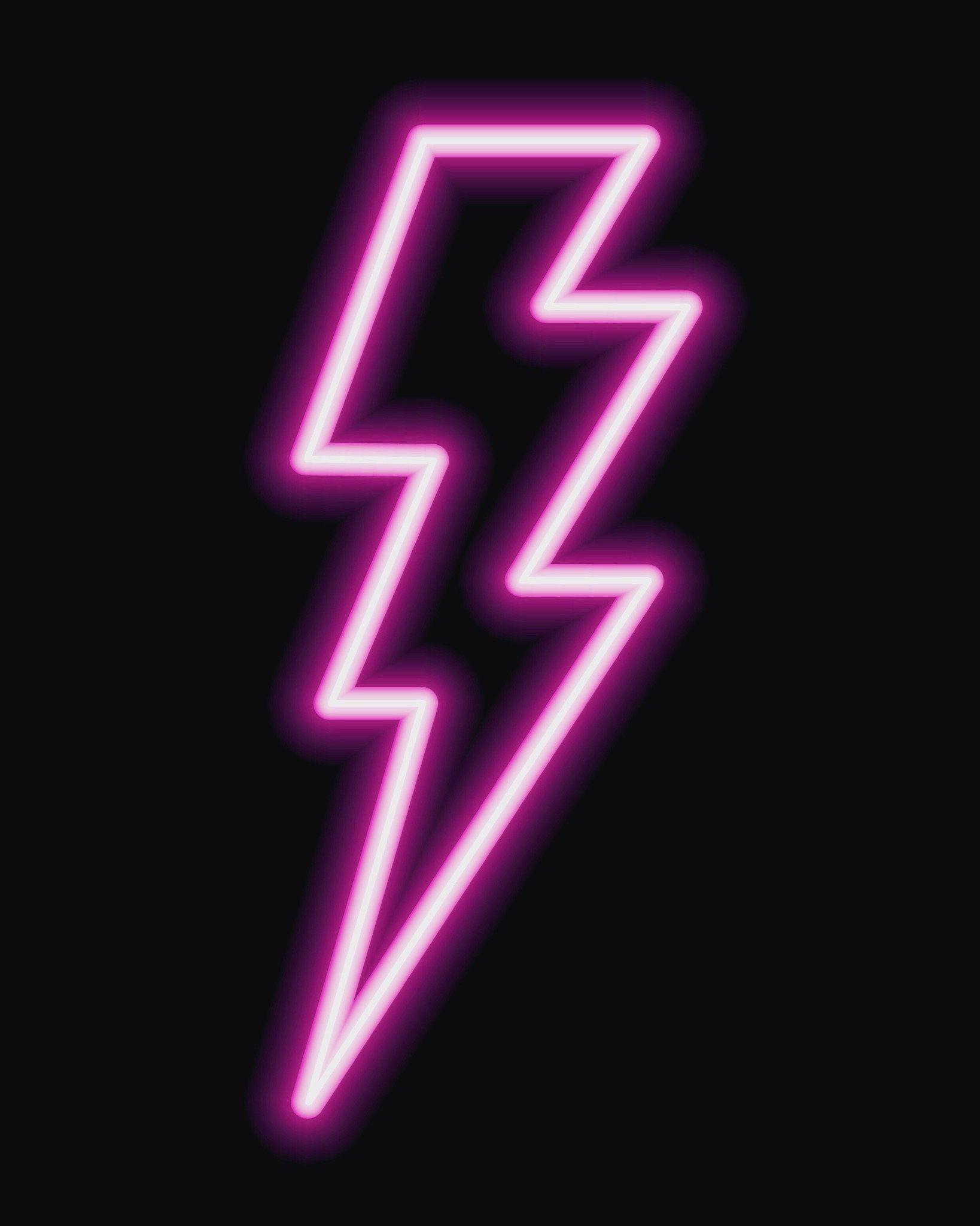 Neon Prints: Lightening Bolt, Lyrics or any word
