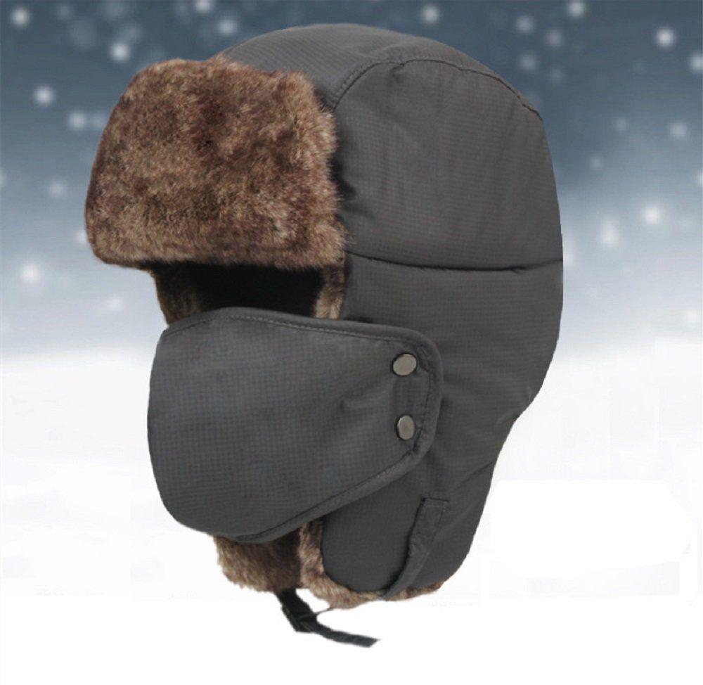 Global tesco Winter fur hats Outdoor Windproof Thick warm winter snow women  cap Face Mask men s 23b695b2a03c