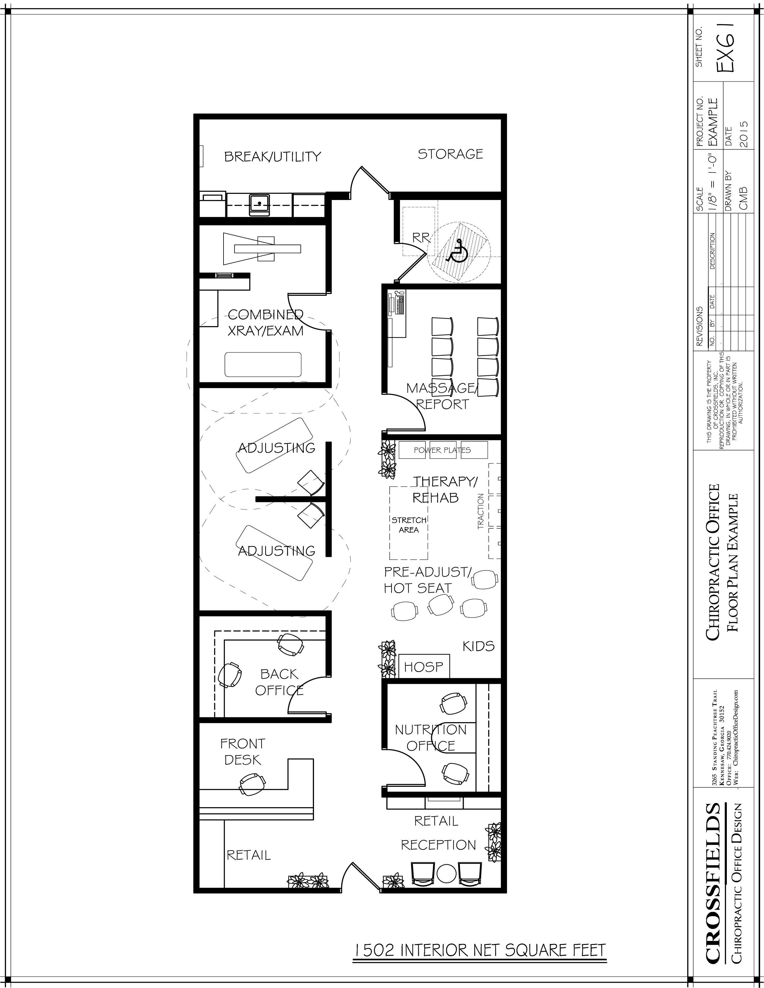 Sample Plan with Nutrition Room Chiropractic Floor Plans