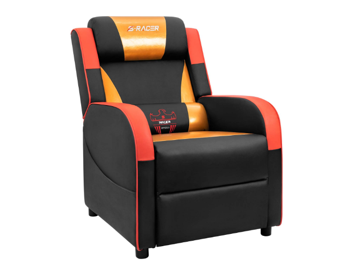 Homall Gaming Recliner Chair Single Living Apartment Sofa Recliner Sracer Pu Leather Recliner Seat House T Leather Recliner Reclining Sofa Home Theater Seating