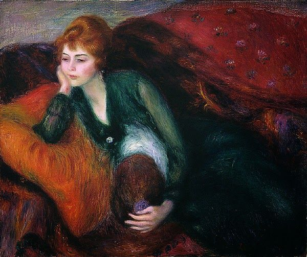 William Glackens - Young Woman in Green