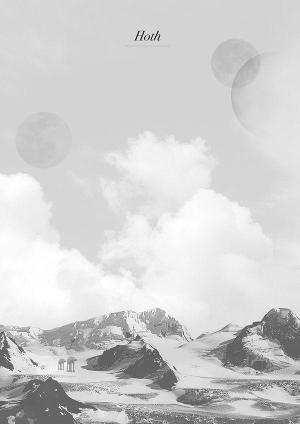 affiche planete star wars 04 Affiches pour les planètes de Star Wars  geek design bonus