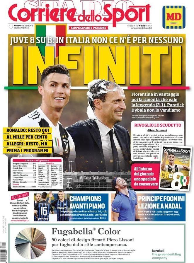 Corriere dello Sport (21 de abril de 2019) Juve