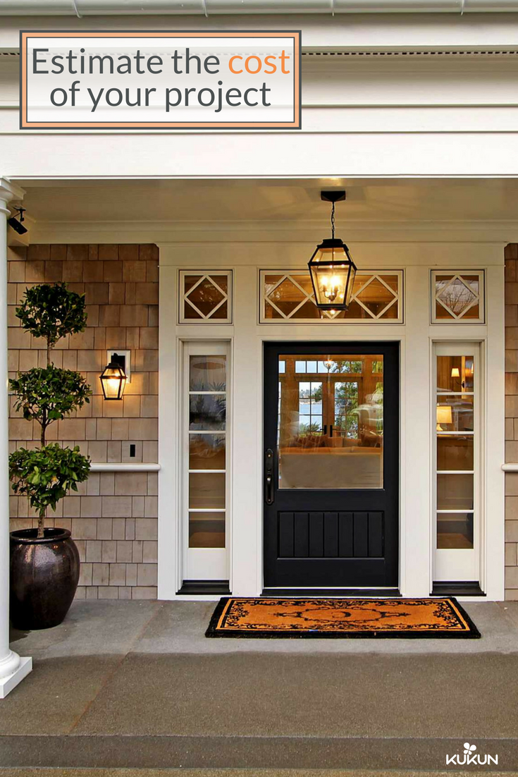 Give Your Front Door An Upgrade And Make Your Porch The Envy Of Your Neighborhood Estimate The Cost Of T Entry Door Installation Entry Doors Door Installation