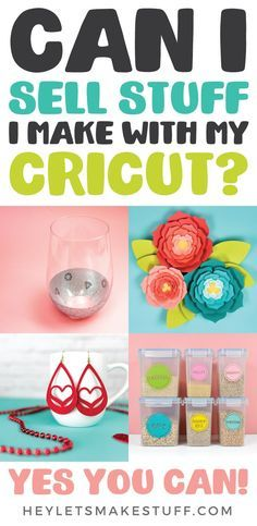 If youve ever wondered can I sell the stuff I make with my Cricut? the answer is yes! Learn everything you need to know about starting a business selling the crafts you make with your Cricut Explore or Maker. AD #cricut #cricutcreated #cricutmaker #cricutexplore