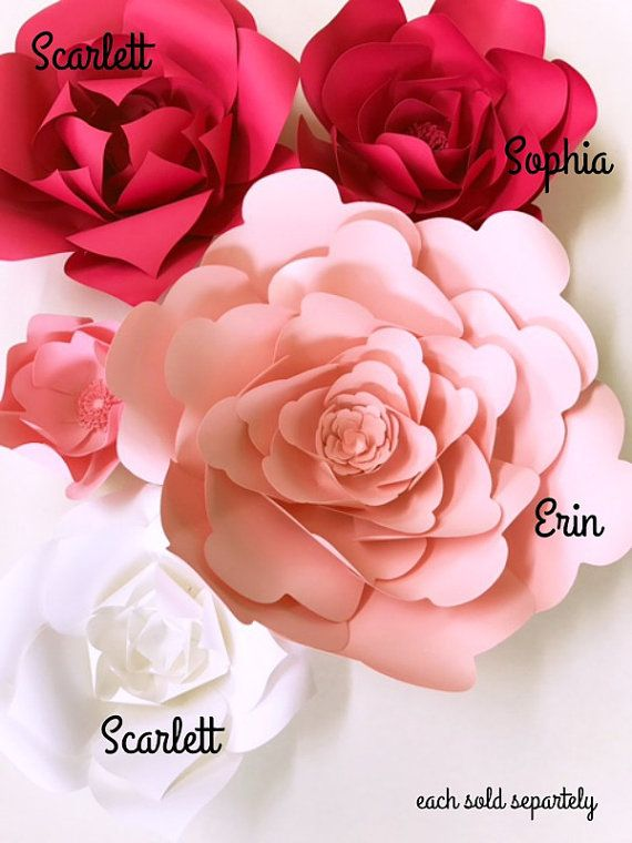 Diy Paper Flower Instructions Paper Flowers How To Templates For