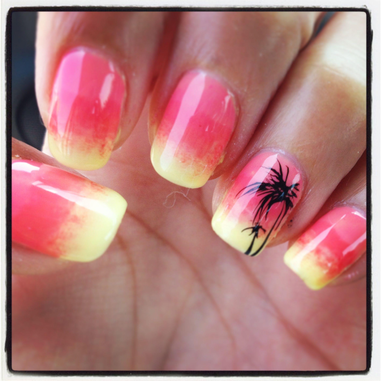 Vacation Nails #nailart #summer Polished Nail Bar Milwaukee & Brookfield