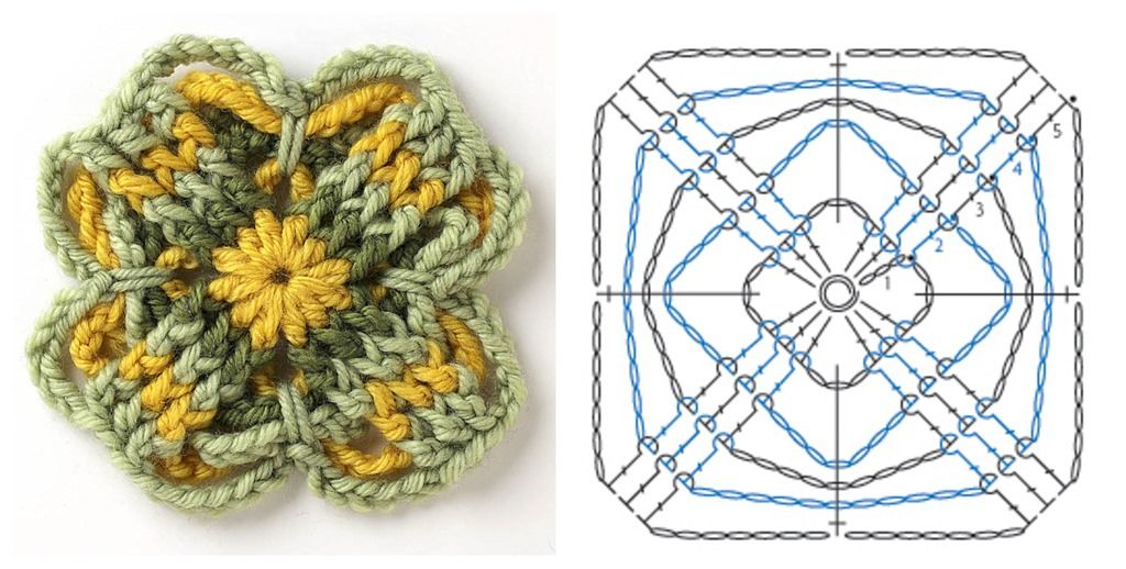 Free Motif Pattern from Connect the Shapes   Crochet patrones ...