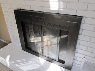 Voila Fireplace Doors Fireplace Glass Doors White Painted