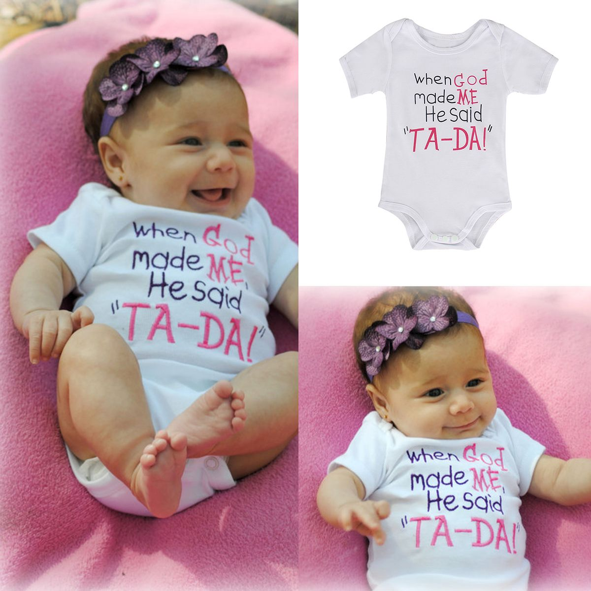 maifeng Newborn Baby Boys Girls Summer Infant Clothes Rompers Jumpsuit Bodysuit Outfit