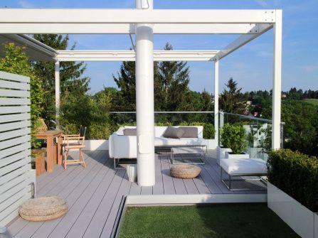 Sommerküchen Kaufen : Dachterrasse mit sommerküche outdoorsofa terrassenbelag wpc