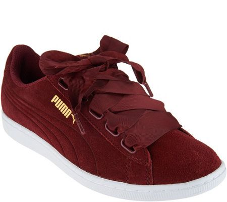 2f61eadc60a5 PUMA Suede Lace-up Sneakers - Vikky Ribbon