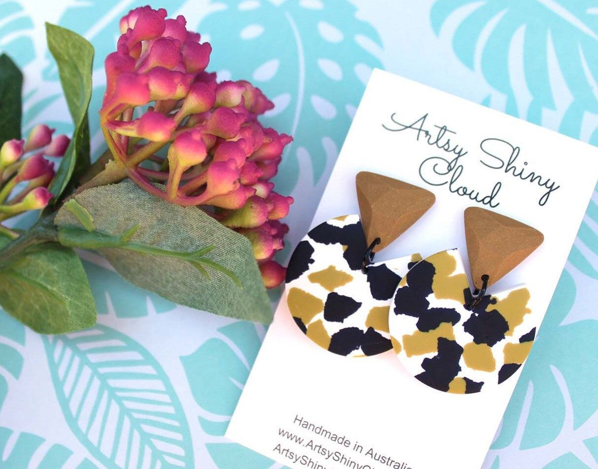 Contemporary earrings polymer clay earrings clay