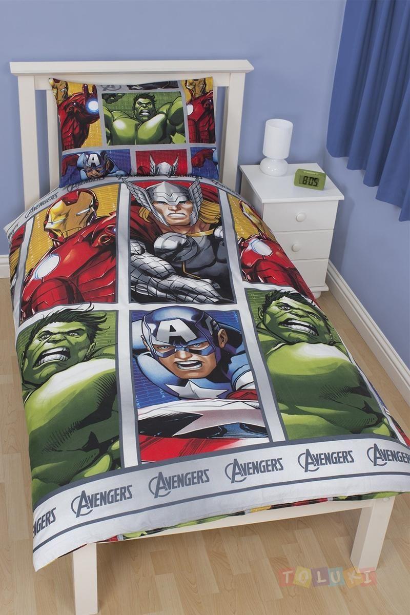 Parure de lit The Avengers http://www.toluki.com/prod.php?id=533 #Toluki #enfant #chambre