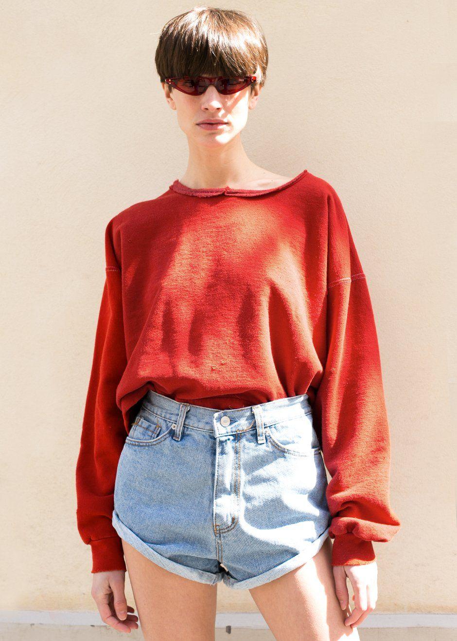 d4e1c7211a ...  Paprika  red  orange  mingle  sweatshirt  ragged  thefrankieshop   frankienyc  frankiegirl Rachel Comey Paprika Mingle Sweatshirt – The  Frankie Shop