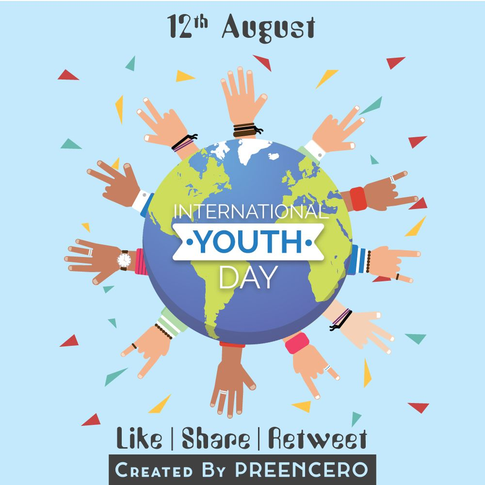 12th August International Youth Day By Preencero Preencero Day