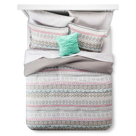 Global Stripe Queen Comforter Set Queen Gray Xhilaration Target Comforter Sets Grey Comforter Sets Queen Comforter Sets