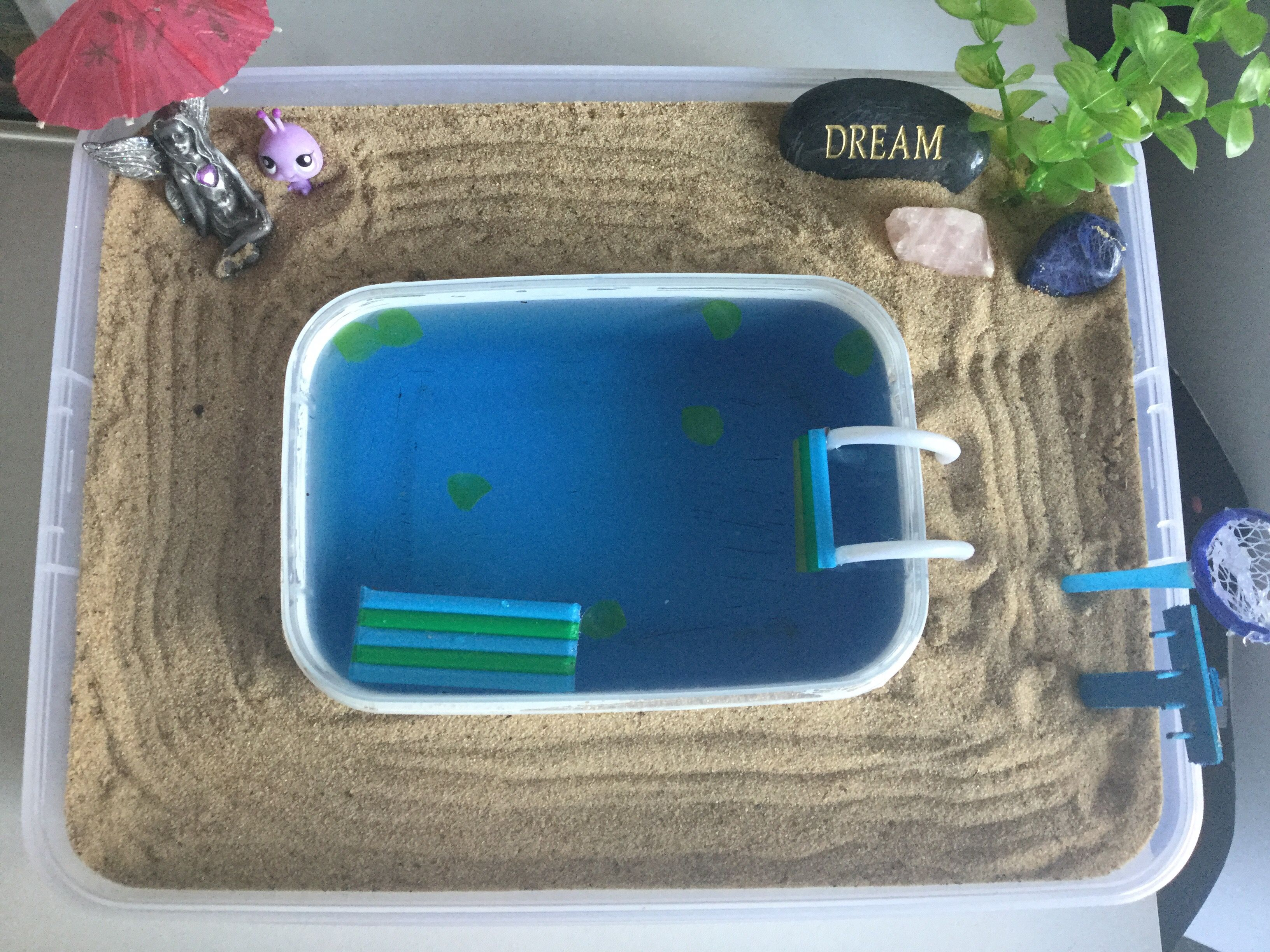 Diy zen garden with pool mini rake and net to catch leaves i made diy zen garden with pool mini rake and net to catch leaves i made solutioingenieria