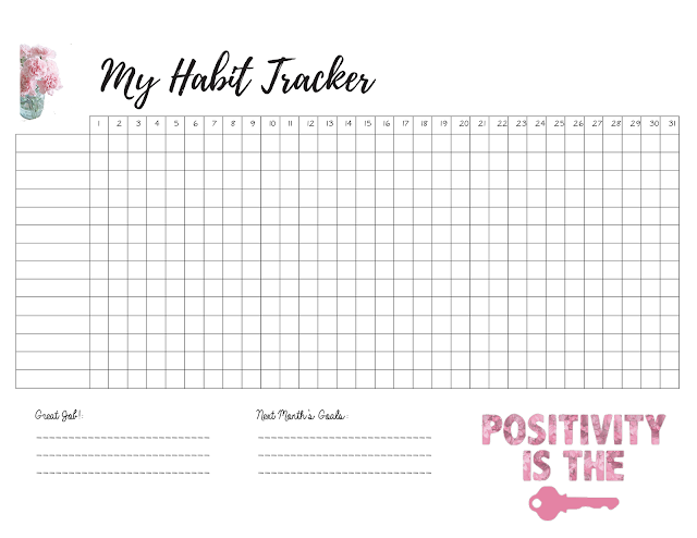 Free Fitness Habit Tracker Monthly Tracking Of New Healthy Habits Www Malenahaas Com Habit Tracker Printable Planner Template Planner Pages
