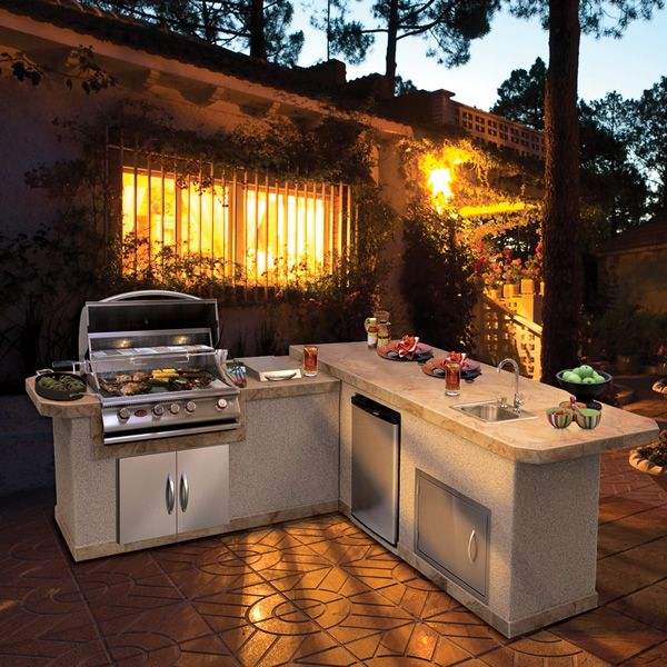 cal flame lbk870 bbq island right counter woodlanddirect com bbq grills islands kitchens on outdoor kitchen bbq id=13465