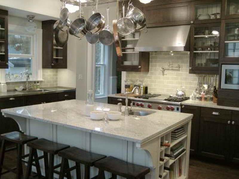 Subway Tile To Match Bianco Romano Granite Kitchen Island River White