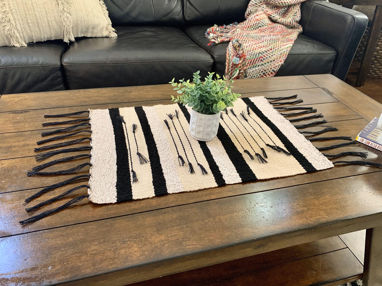 Saori Style Table Runner Coffee Table Runner Plant Rug Etsy I 2021 [ 2250 x 3000 Pixel ]