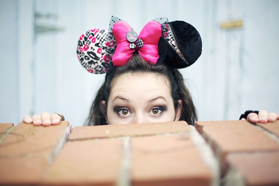 New Minnie Mouse headband Punk rockstar