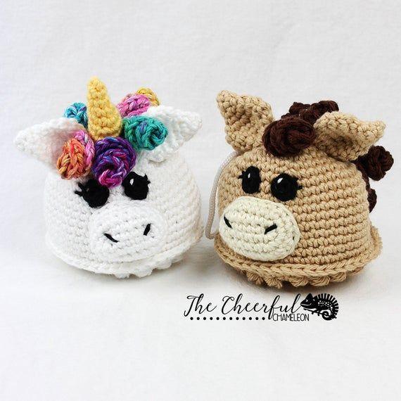 Unicorn Crochet Pattern - Unicorn Crochet Pattern - Horse Crochet Pattern - Soft Bath Toy Pattern - Pony Crochet Pattern - Instant Download #horsepattern