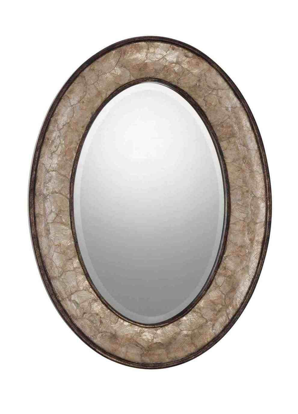 New Post Oval Bathroom Mirrors Oil Rubbed Bronze