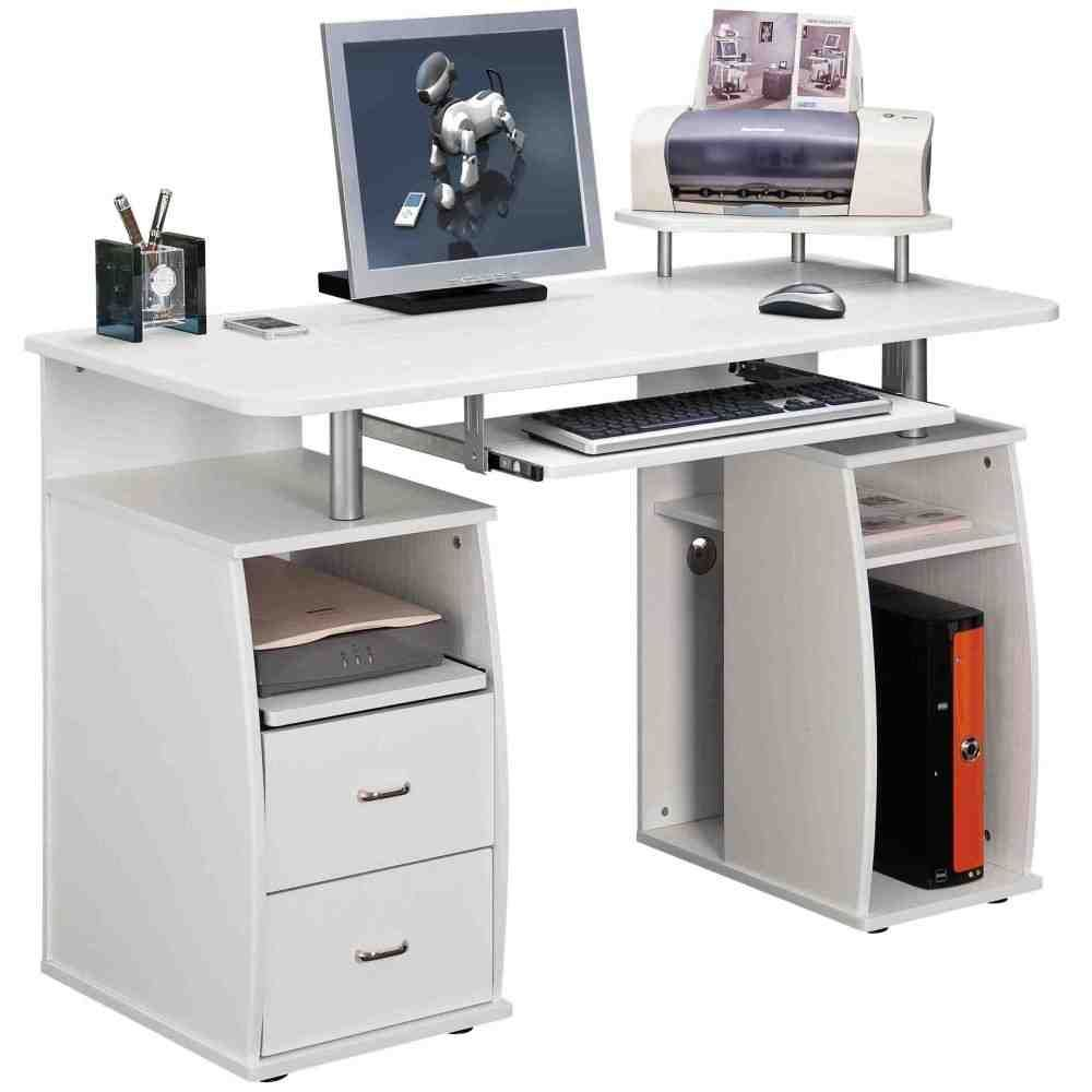 Computer Table With Storage Computer Desk With Shelves Computer Desk White Computer Desk
