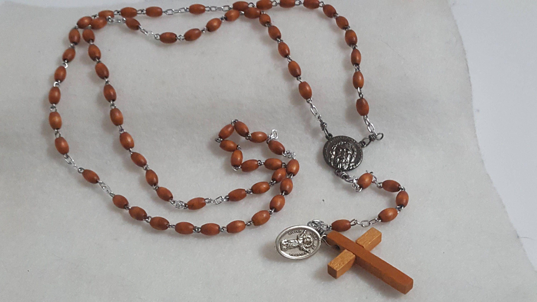 6 Decade Traditional Nun Style Brown Wood Bridgetine Carmelite