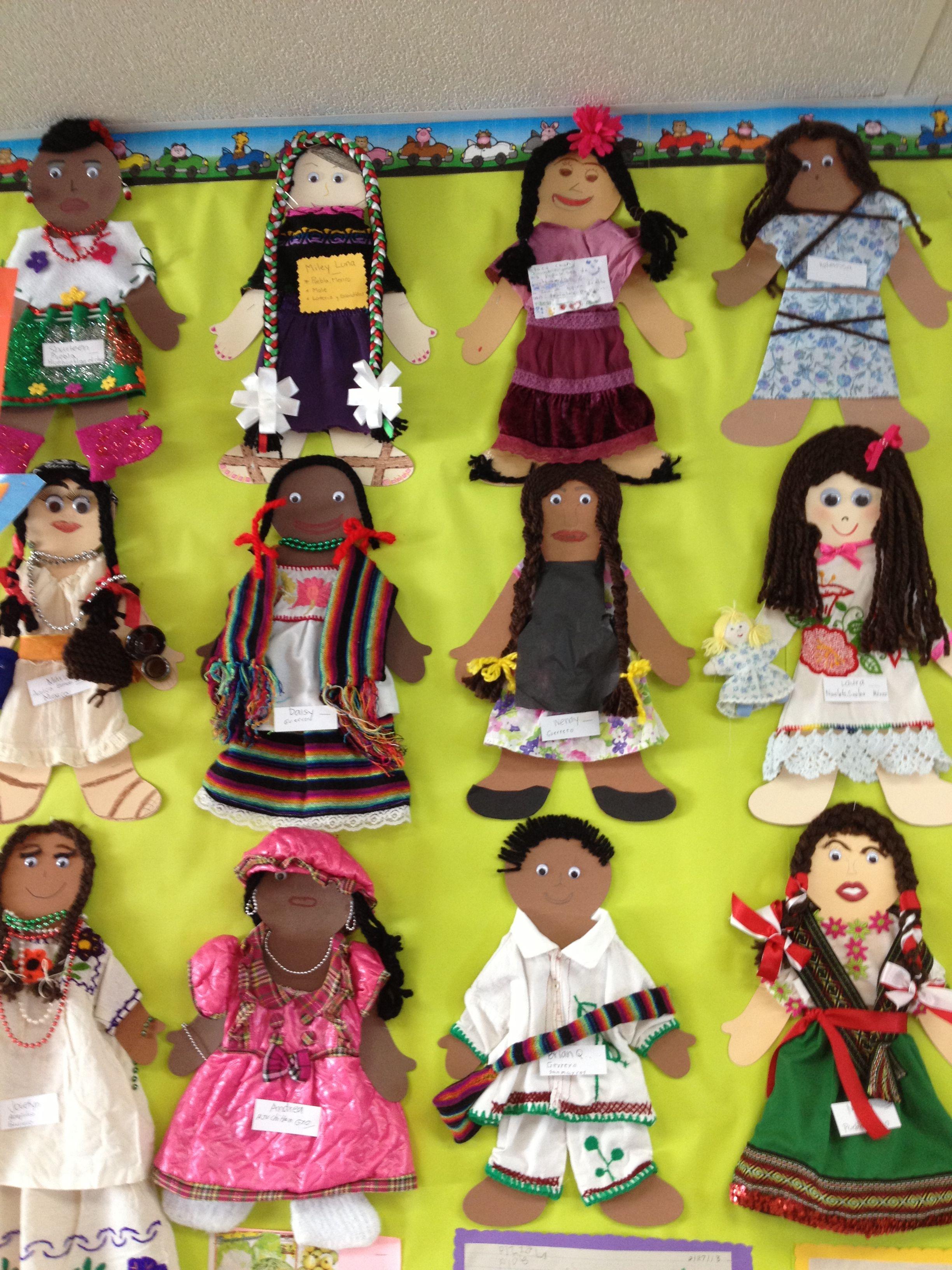 Multicultural dolls. I had my preschool parents do this at ...