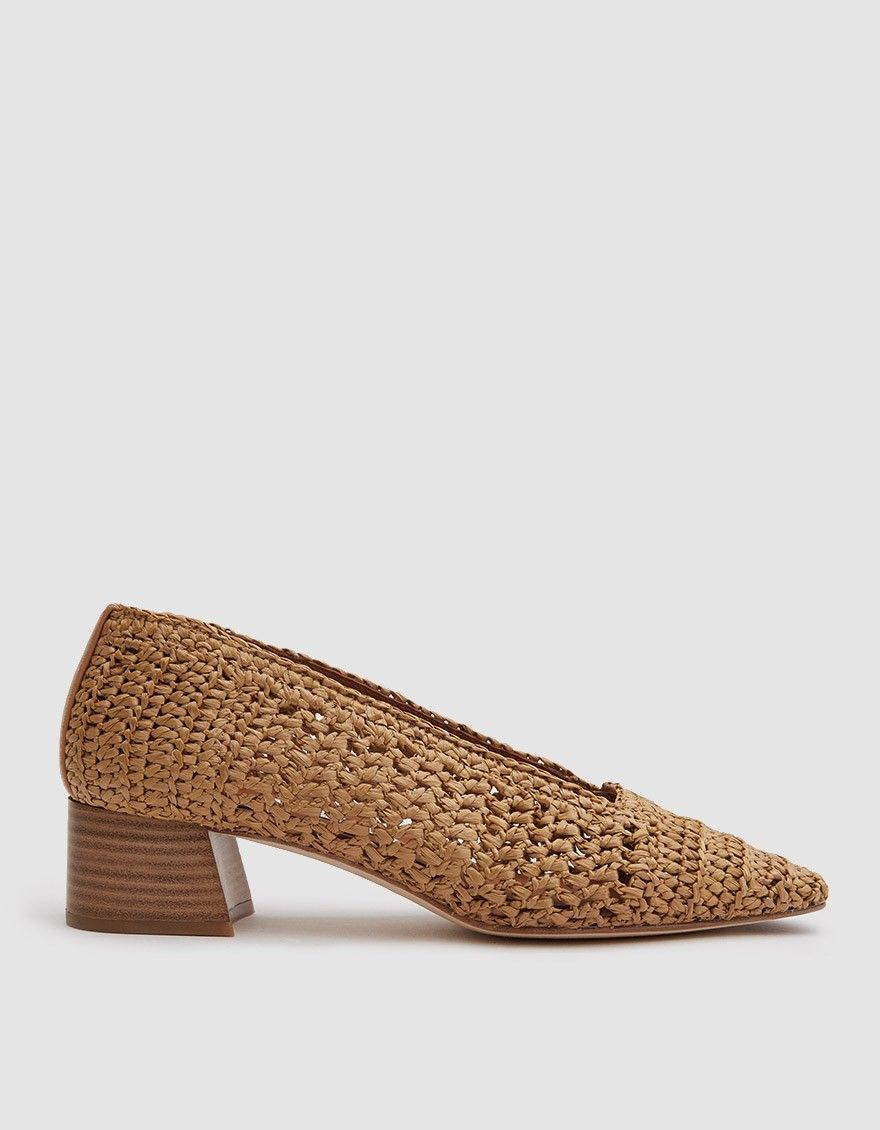 71bd8e3459 Miista / Noa Heel in Legno Raffia in 2019 | HEELS | Shoes, Heels ...