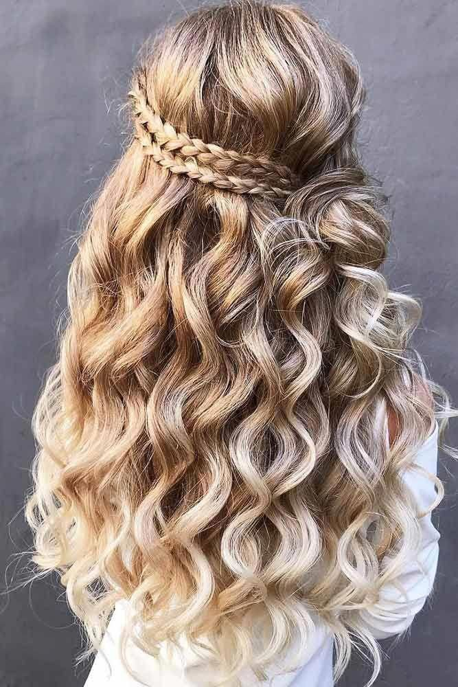 Try 42 Half Up Half Down Prom Hairstyles Lovehairstyles Com In 2020 Hair Styles Long Hair Styles Curly Hair Styles