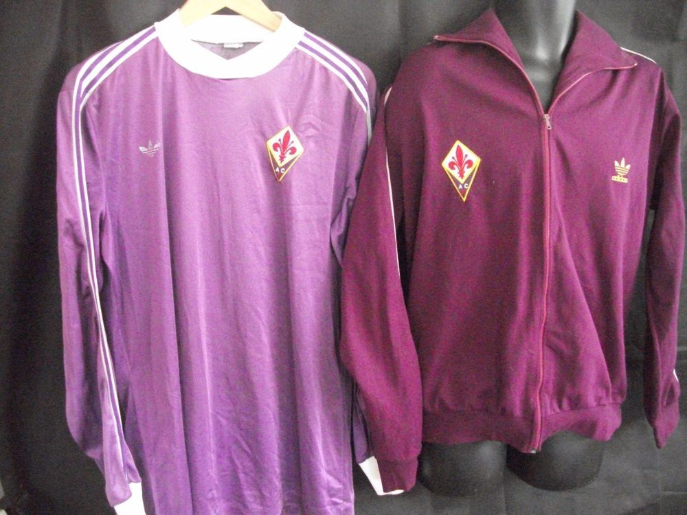 485c2b528b3 Retro Adidas Fiorentina football shirt and jacket  adidas
