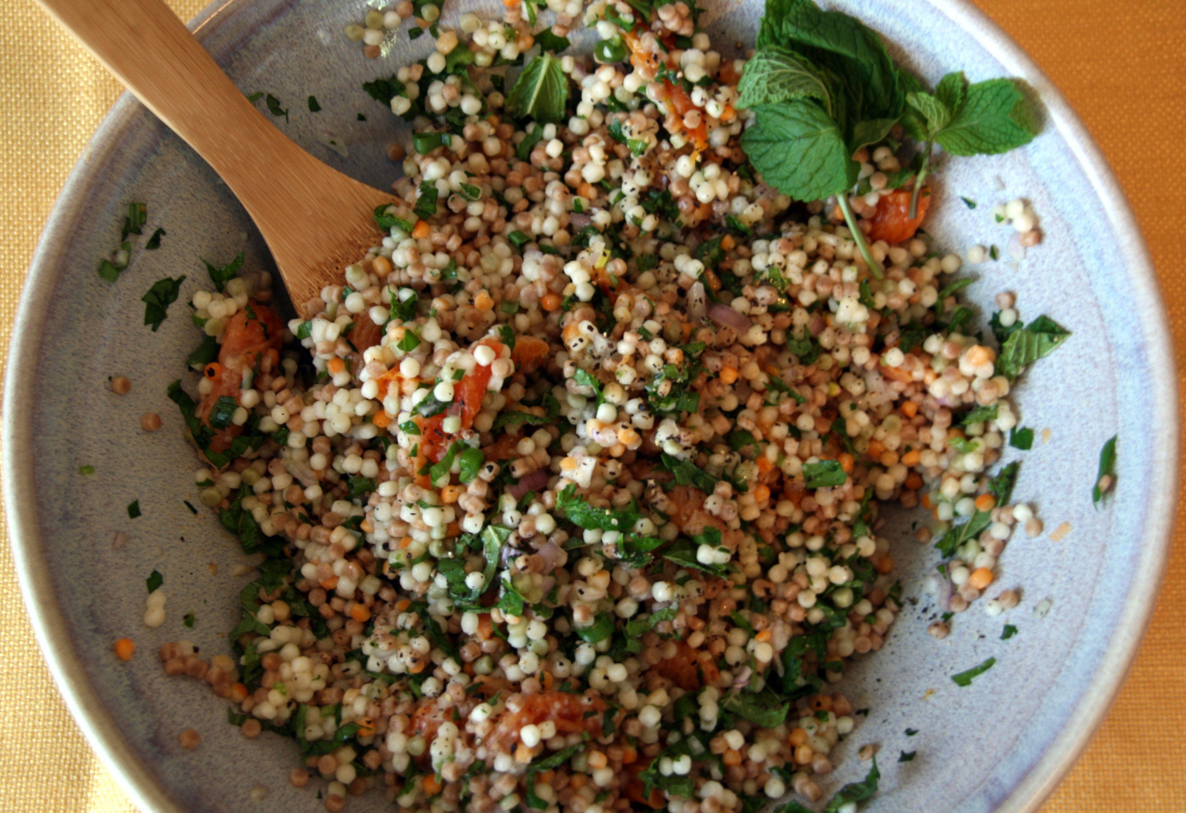 Mezze Apricot Mint Couscous Salad Minted Couscous Couscous Salad North African Food